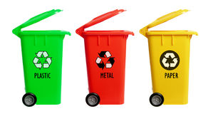 Garbage Bins Stock Photos