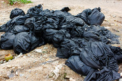 Garbage black. Royalty Free Stock Image