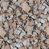 Garbage broken tiles seamless background texture Royalty Free Stock Photos