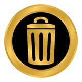 Garbage button on white. Stock Photography