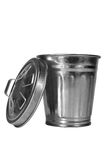 Garbage Can. A receptacle for garbage and refuse Royalty Free Stock Photos