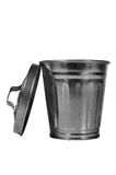 Garbage Can. A receptacle for garbage and refuse Stock Images