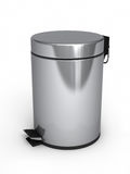 Garbage Can. 3d render Garbage Cans ( on white and clipping path Royalty Free Stock Image