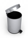 Garbage Can. 3d render Garbage Cans ( on white and clipping path Stock Image