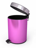 Garbage Can. 3d render Garbage Can ( on white and clipping path Royalty Free Stock Image