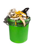 Garbage can. Isolated on the white Stock Image