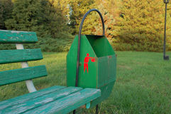 Garbage-can. The garbage-can is in the park, observe for cleanness Stock Photography