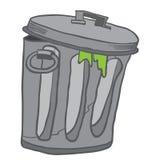 Garbage can. Cartoon illustration  on white Royalty Free Stock Photo