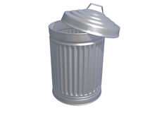 Garbage Can with Clipping Path Stock Photography