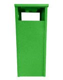 Garbage can - green Stock Images