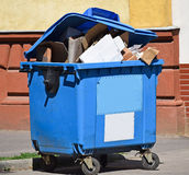 Garbage can on the street Stock Photos