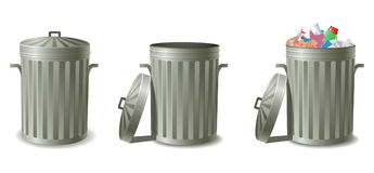 Free Garbage Cans Royalty Free Stock Photos - 13478718