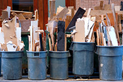 Garbage cans Stock Image