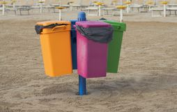 Garbage cans Royalty Free Stock Photo