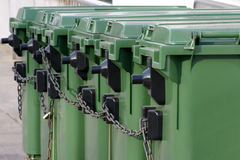Garbage Cans Royalty Free Stock Image