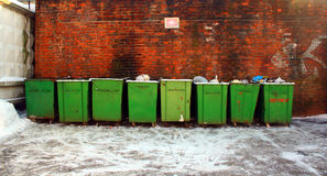 Garbage cans Stock Photography