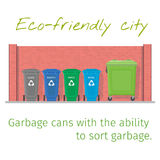 Garbage cans Stock Images