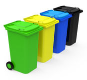 The garbage cans Stock Photo