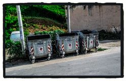 Garbage cans. royalty free stock image