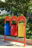 The garbage cans Royalty Free Stock Images