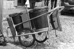 Garbage cart Stock Images