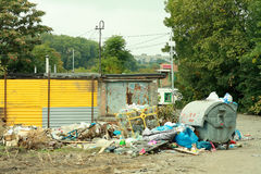 Garbage in the city Royalty Free Stock Photography