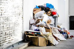 Garbage in the city. Royalty Free Stock Images