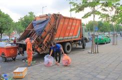 Garbage cleanner Ho Chi Minh City Saigon Vietnam Stock Image