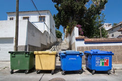 Garbage collected in assorted boxes Stock Photography