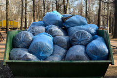 Garbage collection in the city park Royalty Free Stock Images
