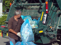 Garbage collection in the city streets Lazarevskoye Stock Photos