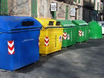 Garbage Collector Bins Royalty Free Stock Photos