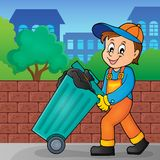 Garbage collector theme image 2 Royalty Free Stock Photo