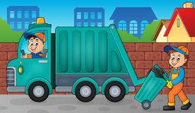 Garbage collector theme image 3. Eps10 vector illustration Stock Photos