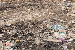 Garbage in construction site after destroy building. Pile of garbage in construction site after destroy building stock images
