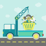 Garbage Container Truck Stock Image