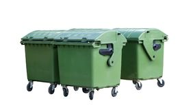 Garbage containers royalty free stock photo