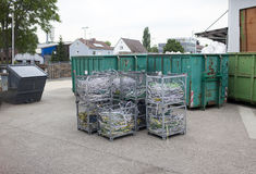 Garbage containers. Industrial landscape in a sunny day Stock Image