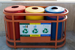 Garbage containers for separate waste collection Royalty Free Stock Images