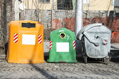 Garbage containers Royalty Free Stock Image