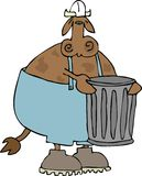 Garbage Cow vector illustration