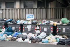 Garbage crisis in Naples Stock Photo