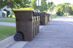 Garbage Day Royalty Free Stock Images