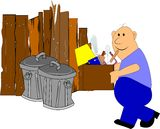 Garbage day Stock Images
