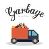 Garbage design, vector illustration. Stock Images