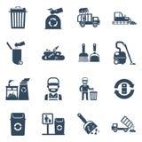 Garbage Disposal  Black Icons Royalty Free Stock Image