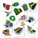 Garbage disposal themes Royalty Free Stock Photo