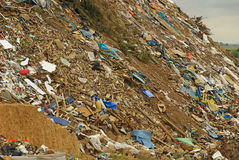 Garbage dump 02. Garbage dump, waste dump in the landscape Stock Images