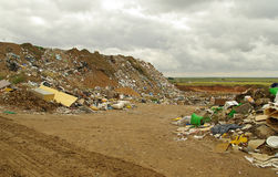 Garbage dump 03. Garbage dump, trash in the landscape Royalty Free Stock Images