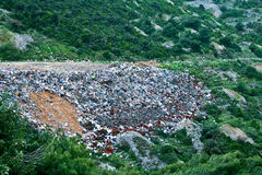 Garbage dump. A view on a local garbage dump Royalty Free Stock Photo